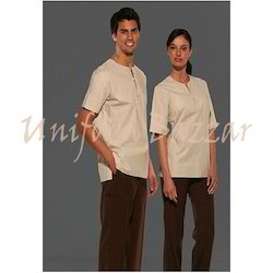 Spa uniform beauty work wear manufacturer from mumbai for Spa uniform colors