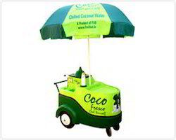 coconut water push cart coco fresco