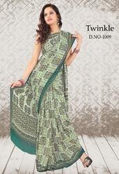Tissue Printed Sarees