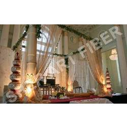 Wedding Golden Carved Mandap