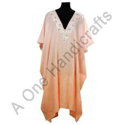 Plain V Neck Kaftan