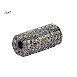 Pave Diamond Beads