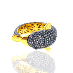 Pave Diamond Designer Rings