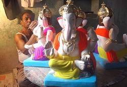 Shadu Mati Ganesh Moorti Idols
