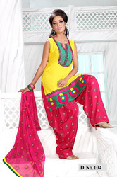 Designer Cotton Ready Made Patyala Suit