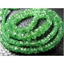 Tsavorite Faceted Rondelles
