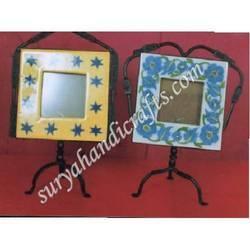 Blue Pottery Photo Frame