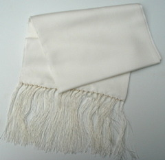 Blank Silk Fringed Scarves