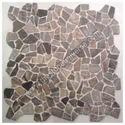 Rainforest Brown Crazy Mosaic Tile