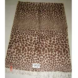 Fine Quality Silk Shawls With  Animal Printed