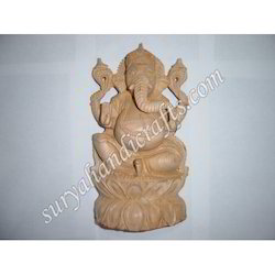 Wooden Ganesh With Stand