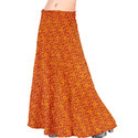ethnic yellow cotton wrap around cotton skirt 200