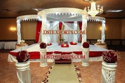 Wedding Crystal Fiber Jali Mandap