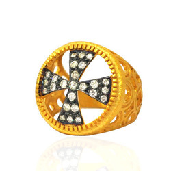 Designer Cross Diamond Rings
