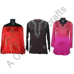 Silk Tunic Tops
