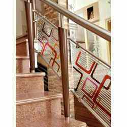 Glass & SS Railings For Stairs
