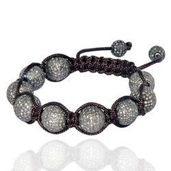 Macrame Bracelet with Diamond Beads