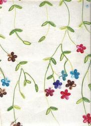 Decorative Embrodiered Handmade Papers