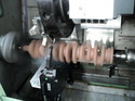 hydraulic self centering crankshaft steady rest
