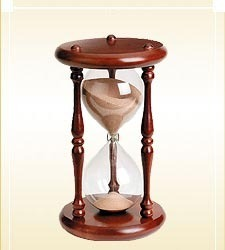Sand Timer Glass With Wooden Stand