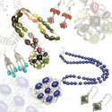 Gemstone Studded Silver Jewellery Items