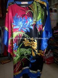 Beautiful Satin Printed Kaftan  Free Sample
