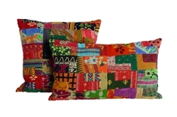 New Vintage Patchwork Kantha Cushion