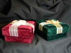Velvet Fabric Covered Boxes
