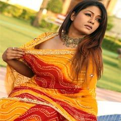 Resham Embroidery Saree