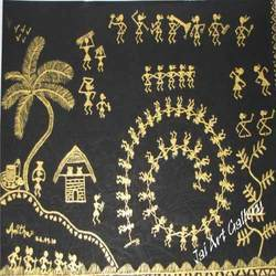 Gold Black Warli Paintings