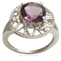 Birthstone Ring Design in 925 Silver
