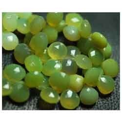 Dark Yellow Opal Chalcedony Briolettes