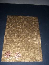 Tile Pattern Embossed Scrapbook Paper