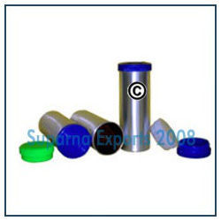 Aluminum Canisters With Plastic Press on Cap
