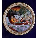 Marble Round Plate With Music Set
