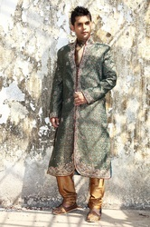 Katdana Work Wedding Sherwani