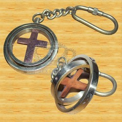 Brass Cross Mark Key Chain