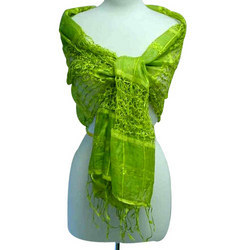 Green Netted Stole