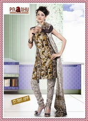 Gorgeous+Print+Semi+Cotton+Salwar+Kameez