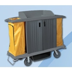 Multifunction Service Cart Linen Trolley (With Door)