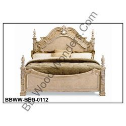 Wood Carved Bed