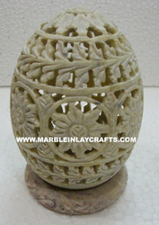 Soapstone Tea Light Holder Egg Shape
