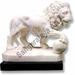 Walking Lion Statue