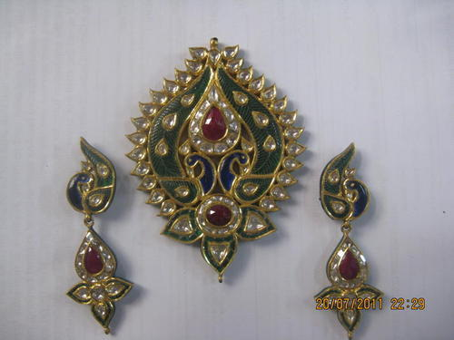 Kundan polki pendant sets in gold kundan peacock gold pendant set kundan peacock gold pendant set aloadofball Images
