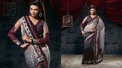 Black White Party Wear Saree