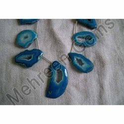 Blue Chalcedony Ring Druzy