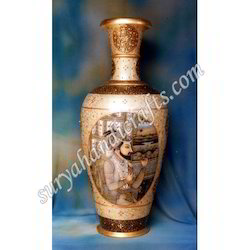 Marble Painting Vases With Raja Rani