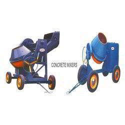 clutch type concrete mixer