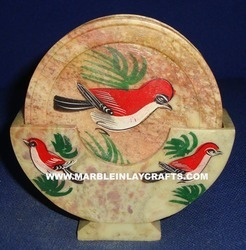 Decorative Soapstone Coaster