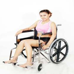 Folding Wheel Chair Super Deluxe